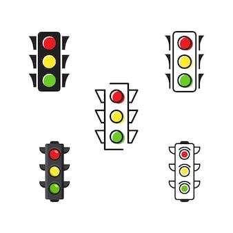 Sygnalizacja świetlna wektor ikona ilustracja projektu szablon