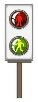 Sygnalizacja świetlna z zielonymi i czerwonymi światłami