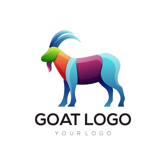 Sylwetka abstrakcyjnego logo kozy