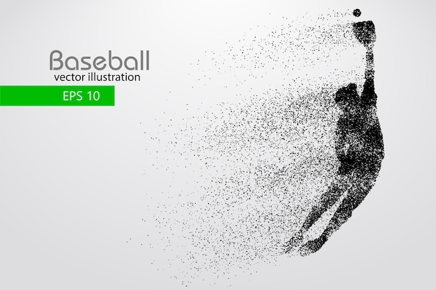Sylwetka gracza baseballa