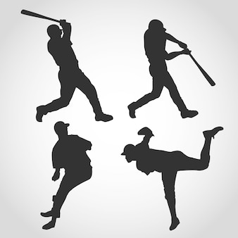 Sylwetka gracza baseballu