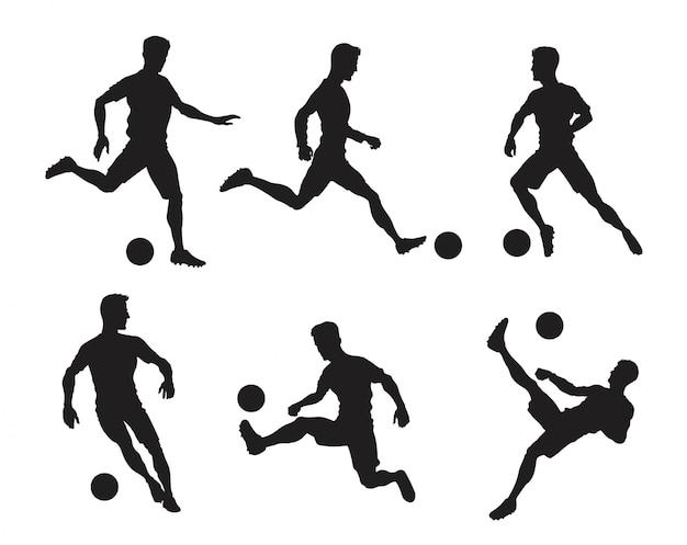Sylwetka gracza piłki nożnej