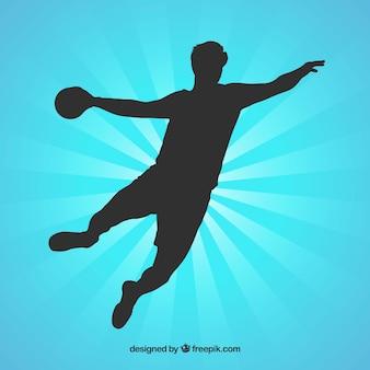 Sylwetka gracza piłki ręcznej
