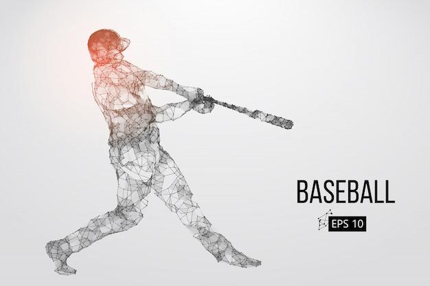 Sylwetka gracza w baseball. ilustracji wektorowych