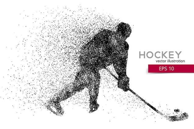 Sylwetka gracza w hokeja