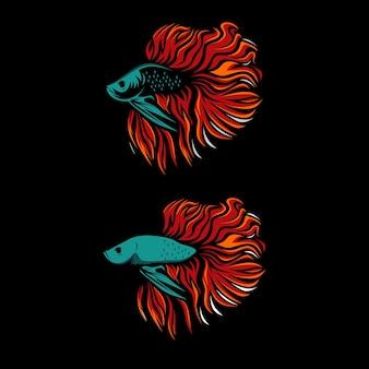 Sylwetka ikona projektu logo betta