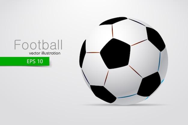 Sylwetka ilustracji piłki nożnej