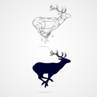 Sylwetka jelenia