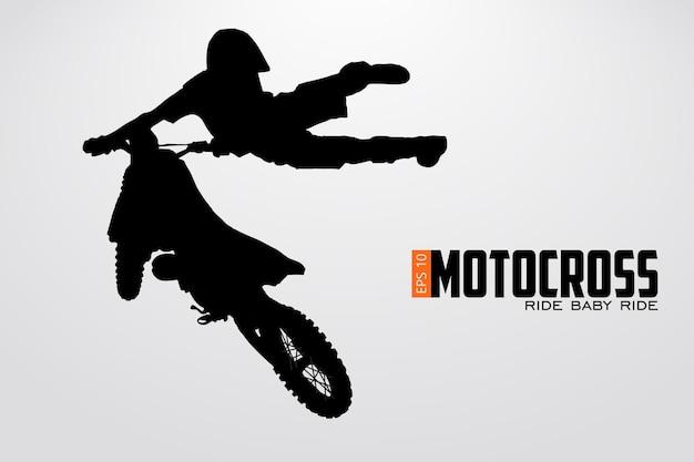 Sylwetka jeźdźca motocrossowego