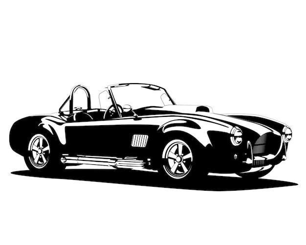 Sylwetka klasycznego gorącego samochodu