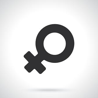 Sylwetka kobiece symbol wenus płeć piktogram ilustracja wektorowa