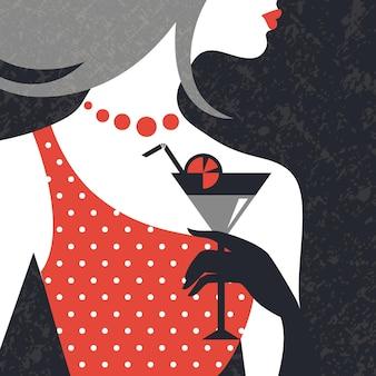 Sylwetka kobiety piękna moda. płaska konstrukcja