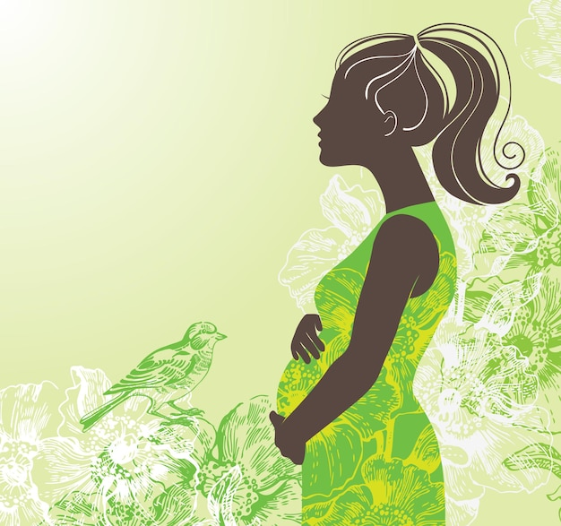 Sylwetka kobiety w ciąży