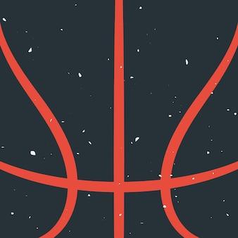 Sylwetka koszykówki z grunge efekt
