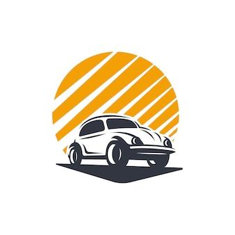 Sylwetka logo klasycznego samochodu