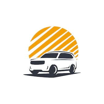 Sylwetka logo samochodu rodzinnego
