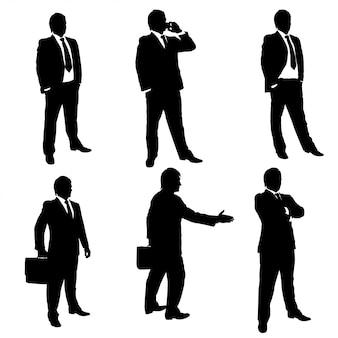 Sylwetka mężczyzn biznesu