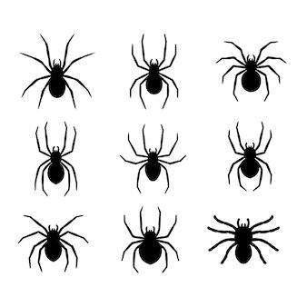 Sylwetka pająka zwisającego z sieci pomysły na opuszczony dom na horror na halloween