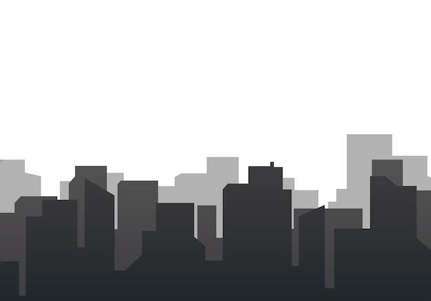 Sylwetka panoramę ilustracji
