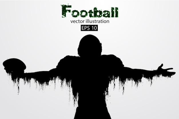 Sylwetka piłkarza. rugby. futbol amerykański. ilustracja