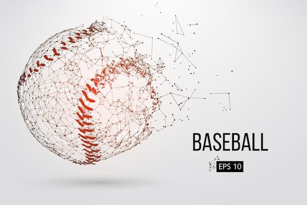 Sylwetka piłki baseballowej