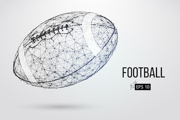 Sylwetka piłki futbolowej