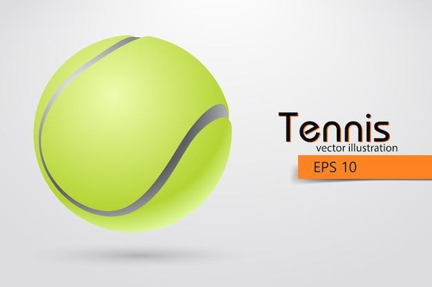Sylwetka piłki tenisowej