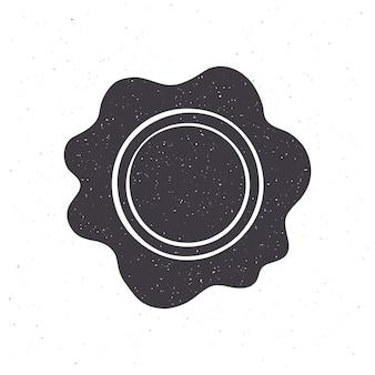 Sylwetka rocznika pieczęć woskowa ilustracja wektorowa pieczęć bezpieczeństwa dla poczty retro
