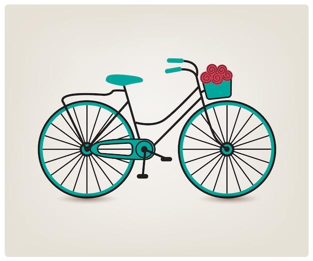 Sylwetka rower retro vintage