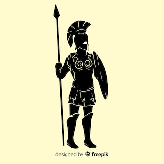 Sylwetka spartańskiego wojownika