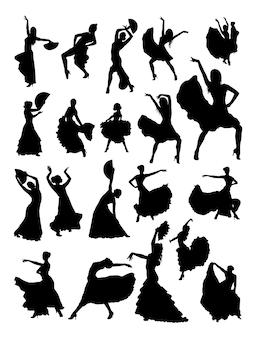Sylwetka tancerz flamenco