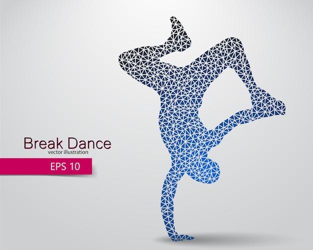Sylwetka tancerza przerwy