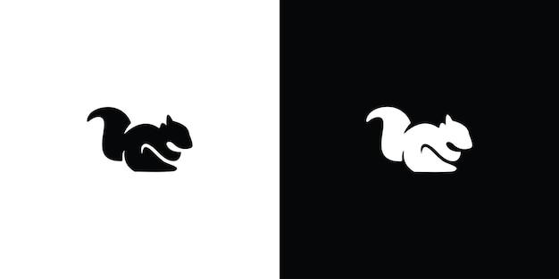 Sylwetka wiewiórki logo premium wektorów