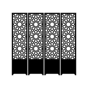 Sylwetka wschodniej przegrody koloru czarnego na białym tle. ilustracja wektorowa.