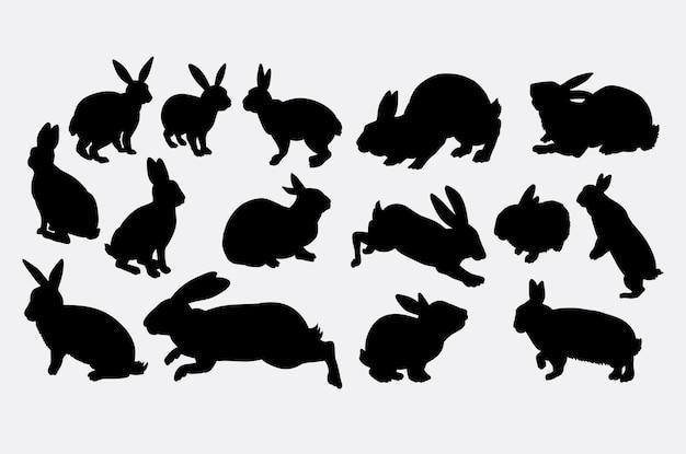 Sylwetka zwierzęcia działania królika