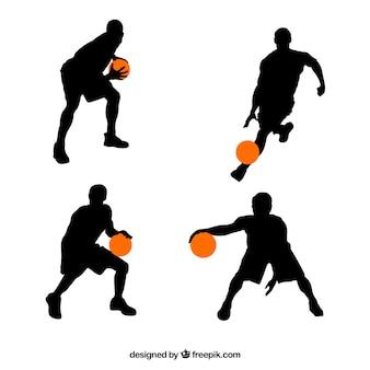 Sylwetki koszykarzy
