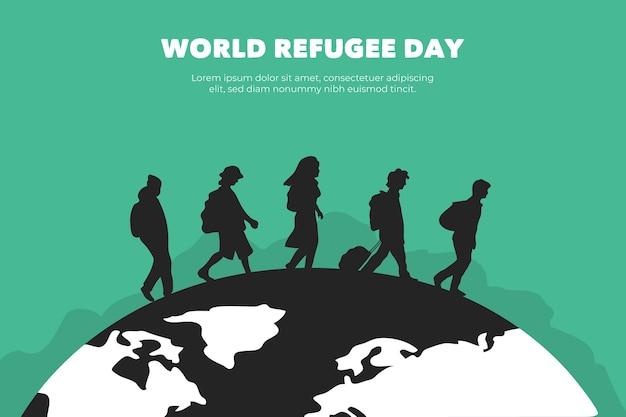 Sylwetki światowy dzień uchodźcy