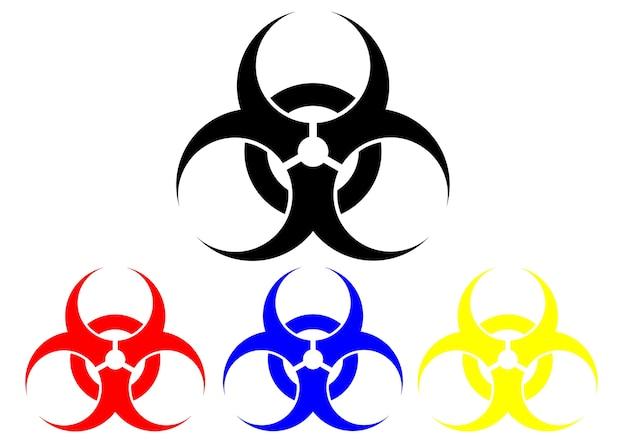 Symbol biohazard na białym tle