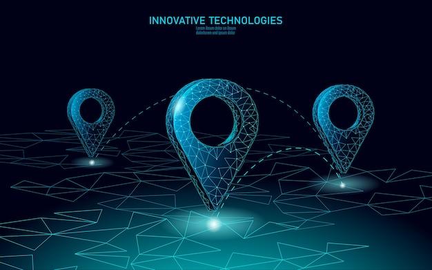 Symbol biznes lokalizacji punktu mapy. realistyczna ikona wielokątna rynku mapy usług dostawy. wysyłka w kierunku zakupów online adres miasta pozycja pinezka ilustracja.