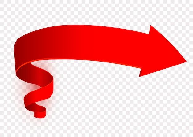 Symbol czerwonej strzałki, znak w prawo, drogowskaz. wskaźnik. projekt elementu nawigacyjnego,