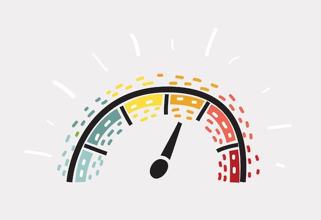 Symbol czujnika pomiaru prędkości
