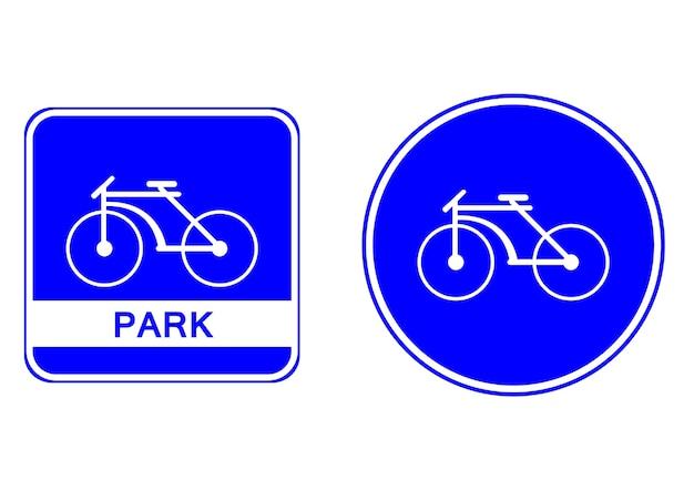 Symbol etykiety parku rowerowego