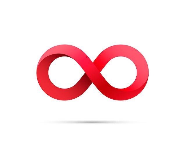 Symbol informacji o sztuce nieskończoności. ilustracja wektorowa