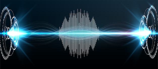 Symbol inteligentnej technologii głos asystenta hitech ai