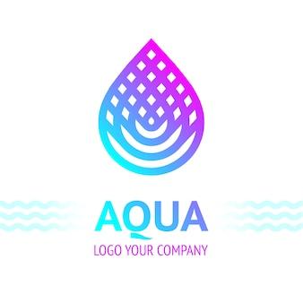 Symbol kropli wody, ikona logo szablon do projektowania