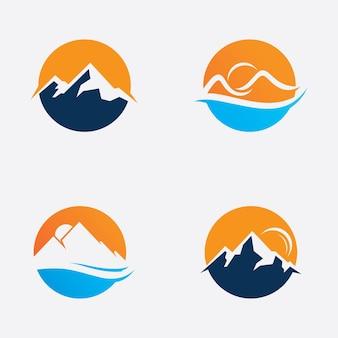 Symbol logo góry, znak wektor góry