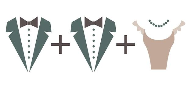 Symbol małżeństwa równanie matematyczne para mężczyzna plus mężczyzna małżeństwo homoseksualne