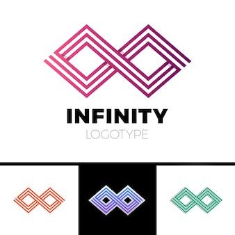 Symbol nieskończoności biznesu streszczenie projektu logo