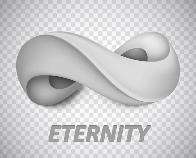 Symbol nieskończoności. ilustracja na białym tle. graficzna koncepcja twojego projektu