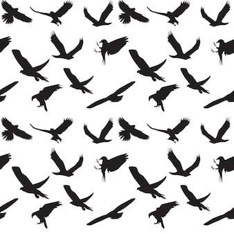 Symbol orła zestaw wzór. ilustracja wektorowa. eps 10.